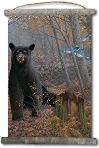 "WGI-GALLERY 石陶黑熊帆布墙挂轴 0.75"" x 25"" x 18"" WC-SWBB-1825"