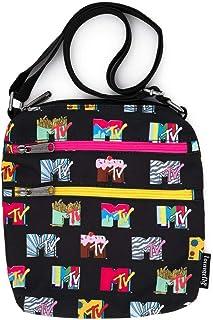 Loungefly Viacom MTV 标志尼龙护照包