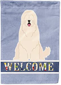 Caroline's Treasures 俄罗斯牧羊犬欢迎国旗花园,小号,多色