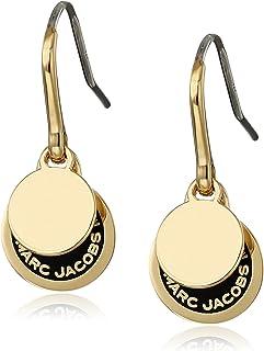 Marc Jacobs 徽标圆盘珐琅耳环