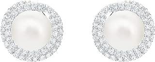 Swarovski 施华洛世奇 女式白色镀铑原始穿孔耳环 5461087