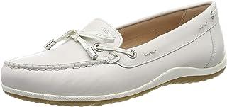 Geox 健乐士 女士 D Vega Moc B 莫卡辛鞋 Elfenbein (Off White C1002) 37 EU