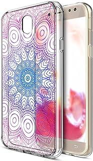 盖乐世 J7 Pro 保护套,ikasus Art Painted Mandala Flowers 水晶透明超薄弹性软橡胶凝胶 TPU 保护套保护套保护套适用于 Galaxy J7 Pro/J7 2017 J730(欧盟版), Indian Sun Flower IKSS00026600