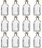 Juvale 透明玻璃瓶带软木盖 - 12 个装小号透明罐子带塞子,用于复古婚礼装饰,DIY,家居,派对用品,4.75 x 2 英寸