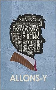 Doctor Who,David Tennant,Allons-y Word 艺术印刷海报艺术家 Stephen Poon 创作。 12x18 inch SP-10290 B