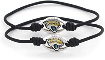 aminco NFL Jacksonville Jaguars 弹力手链和发带套装,2 件装