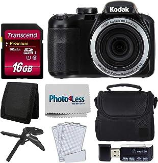 Kodak PIXPRO AZ421 数码相机 + 相机包 + Transcend 16GB SDHC Class10 UHS-I 卡 400X 存储卡 + USB 读卡器 + 桌面三脚架 + 配件AZ421-BKK1  黑色