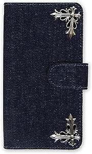 whitenuts 保护壳 手册式 十字 装饰 牛仔布WN-OD128972 3_ Galaxy S8 Plus SM-G955 深蓝色