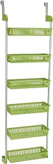 Home Essentials 3 层篮式上门收纳袋,带挂钩,红色 莱姆绿 2151-1