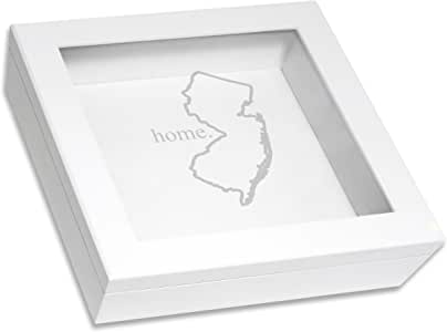 Cathy's Concepts Home State Keepsake Box 白色