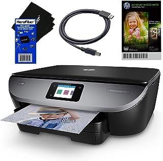 惠普照片打印机一体式无线 Envy 7120 带扫描仪和复印机 + 墨盒和可选即时墨水* + USB 线,样品照片纸包和 HeroFiber