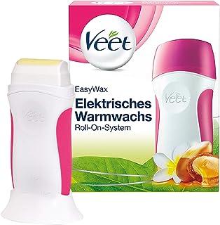 Veet薇婷 EasyWax电热蜡脱毛仪 Roll-On-系统 essential inspirations适用于各种皮肤类型,含一个蜜蜡(1 x 1件)