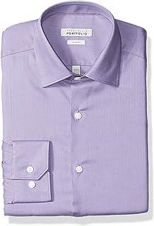 Perry Ellis 男式修身免皱礼服衬衫