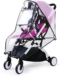 通用婴儿车防雨罩,婴儿推车防风雨罩,防水婴儿车罩,旅行雨伞婴儿车防风防尘罩,食品级 EVA,*保护