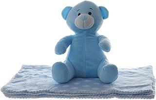 婴儿礼品 Push Bear 全尺寸毛毯 蓝色