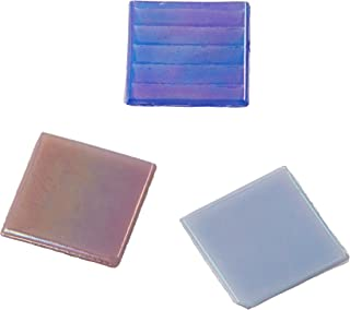Midwest Products Value Pack Metallic Glass Tiles, Light Mix