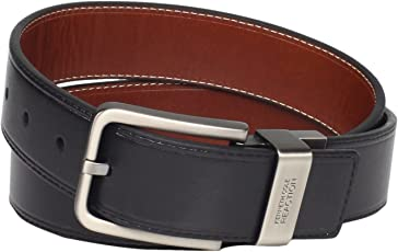"""Kenneth Cole REACTION 男士 Brown Out 1.5"""" Leather Reversible 腰带"""