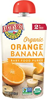 earth's best organic stage 2,橙色&香蕉,4盎司袋(12个包装)