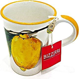手工意大利陶瓷杯,印有甜美柠檬图案 | Bizzirri 陶瓷