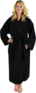 Indulge Premium Linen Terry Hooded Bathrobe For Men and Women, 100% Cotton, Made In Turkey