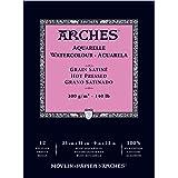 ARCHES 300 gsm A3 热压水彩垫 Hot pressed 23 x 31 cm 白色