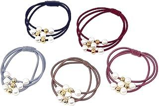 Honbay 10 件时尚发饰多层发圈弹性发带珍珠发绳马尾辫夹