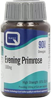 Quest 1000mg Evening Primrose Oil - Pack of 90 Capsules