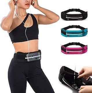 男士跑步腰带,跑步者腰带,防水腰袋,手机夹,可调节健身包,带耳机端口