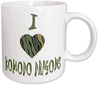 Blonde Designs Camo Colored Striped I Love Animals Heart - Camo Colored Striped I Love Komodo Dragons - 15oz Mug (mug_122106_2)