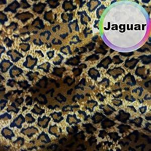 Barcelonetta | 动物印花毛皮面料 | 短毛绒 | 动物纹理 | 157.48 cm 宽 | DIY 工艺品、艺术和装饰、家具内饰、缝纫 Jaguar 2 Yard Velboa-Jaguar-2yd