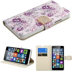 MyBat Wallet Case for MICROSOFT Lumia 640 - Retail Packaging - Purple