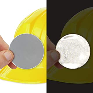SmartSign 白色复古反光硬质帽标签 | 5.08 厘米圆圈,10 件装