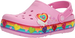 crocs ' crocband FUN 实验室灯光彩虹心洞洞鞋