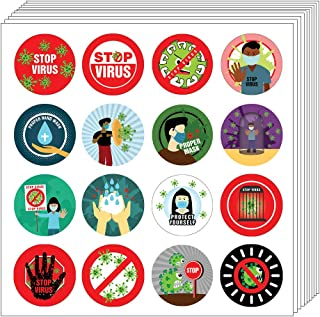 卫生和儿童家务贴纸(10 张) 10-sheets Stop Virus Stickers (10-sheet)