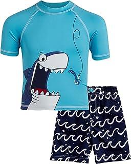 Wippette 男童泳衣 - *服 UPF 50+ 和泳裤 2 件套(鲨鱼/螃蟹/恐龙)(婴儿/幼儿)