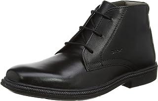 Geox 儿童 JR Federico 5 及踝靴 黑色 37 M EU Big Kid (5 US)