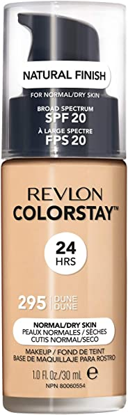 Revlon Colorstay不脱色粉底液,适合中性/干性皮肤 1.0 Fluid Ounce
