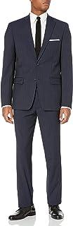 DKNY 男式 dominic 单排扣100% 羊毛双扣领翻领修身西装