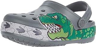 Crocs 儿童恐龙乐队洞洞鞋|儿童一脚蹬水鞋,适合幼儿、男孩、女孩