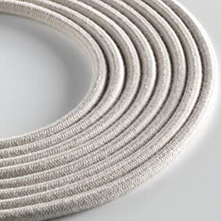 Klartext - 光圆形纺织电缆用于照明,3 x 0.75 毫米,灰褐色,3 米警告:包括接地电缆! *大防震*!