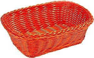 Tablecraft 手织多绳矩形篮 橙色 HM1185X