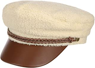 Brixton Ashland Teddy Elbsegler 女士棒球帽 女士帽 Baker 男孩帽 气球帽 (54 厘米-奶油白色)