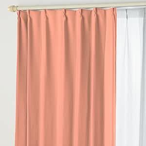 遮光窗帘A&蕾丝ST 07.珊瑚粉 幅200×丈105cm 2枚組 -