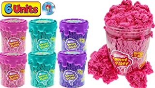 JA-RU 感官沙玩具 毛绒减压(3件组合)无杂乱 棉 动感疯狂模塑 香味 玩具 魔法 床垫 自闭*粘土 ADD 6594-3p 6 Units 1 Pound Cotton Candy Play Sand