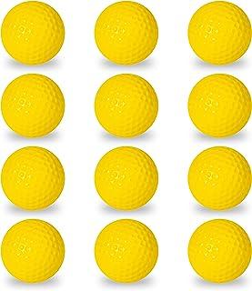 Franklin Sports 泡沫高尔夫球 – 官方尺寸 – 室内或室外高尔夫训练 – 限制高尔夫练习用球大战 – 12 只装 – 浅黄色 – 后院训练