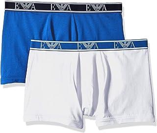 Emporio Armani 安普里奥·阿玛尼男式交织平角内裤 2 条装