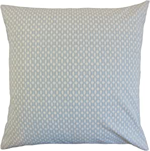 "The Pillow Collection Orit Geometric 欧式枕套条纹 ""Multi"" King/20"" x 36"" KING-PT-HIGHPOINT-CHAMBRAY-C100"