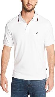 Nautica 男士经典修身短袖双翻领马球衫 亮白色 3X-Large