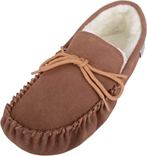 snugrugs 男式羊皮软帮鞋拖鞋带软底
