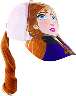 Disney 冰雪奇缘艾莎或安娜马尾小女孩棒球帽